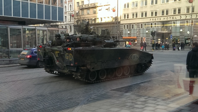Unexpected sight in central Stockholm